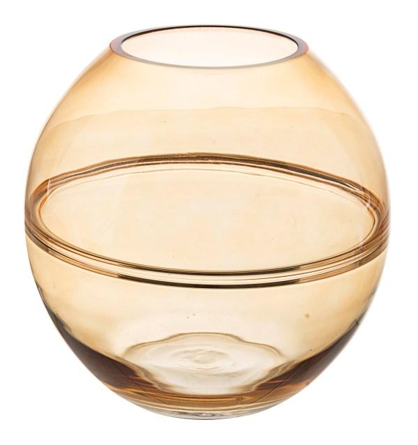 PAUL'S HOME Bizzotto Vase GL Illusion Ockergelb